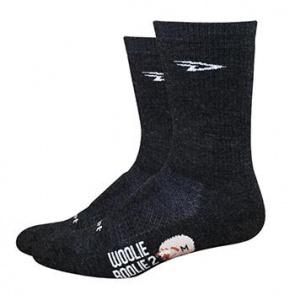 "Defeet Woolie Boolie 6"" D-Logo Charcoal Socks SM"