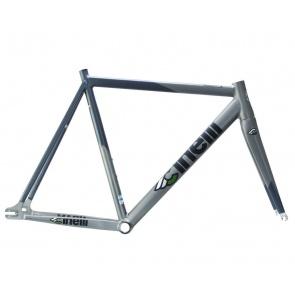 Cinelli Mash Bolt Aluminum Track Frame - Silver
