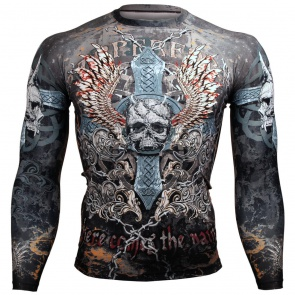 Btoperform Skull Cross FX-106 Compression Top MMA Jersey Shirts