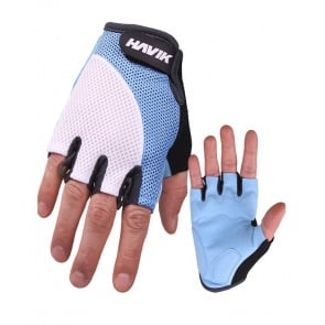 Havik 537 Meshfull Half Finger Gloves Sponge Pads Blue White