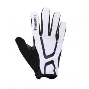 Shimano Light Gloves Long Finger Bicycle White Black